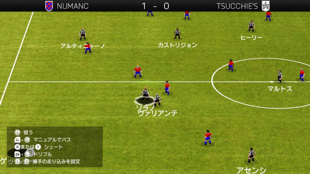 プレイングマネージャー 試合画面
